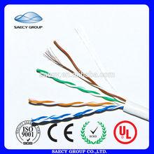 Big Promotion 100% Fluke passed 305m CAT5e UTP Flat UTP Cat 5 Lan Cable