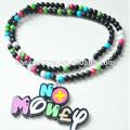 nuevo estilo de venta al por mayor de joyería de moda en la media de buena madera de hip hop diseño colorido cuentas de collar colgante