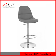 BS-077 grey rocking leather bar chair pu stool