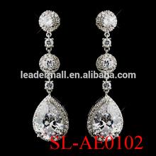 Bridal Wedding Earring crystal rhinestone earring zircon butterfly young girl earring