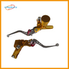 Gold good motorcycle adjustable brake and clutch levers