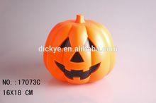 Plastic Halloween voice control pumpkin with sound