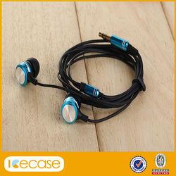 2014 new high quality fashion metal earphone with mic/mobile phone earphone