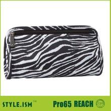 Zebra pattern foldable men travel bag , promotional cosmetic bag ,