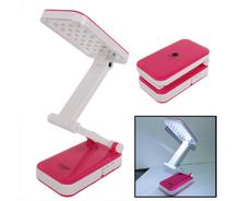 Folding 24 LED Rechargeable Desk Lamp (Pink)