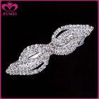 Beautiful diamond plain metal hair barrette