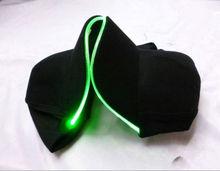 Handmade novelty led hat fiber optic cat 2014 hot sale