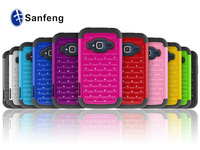 Deluxe shining cell phone cover for ZTE concord II bling case / hybrid plastic +silicon skin case for ZTE concord II Z730