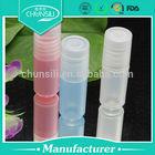 Plastic round deodorant container crystal design perfume bottle