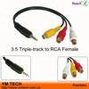 3.5mm AV output/input cable Plug to RCA female socket
