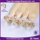 Human Hair Keratin Glue Micro Thin Weft Hair Extension