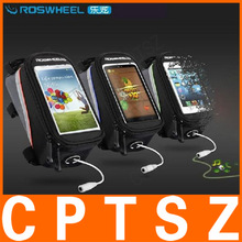"""ROSWHEEL 4.2"""" 4.8"""" 5.5"""" Bike Bicycle Cycle Cycling Frame Tube Panniers Waterproof Touchscreen Phone Case Reflective Bag"""