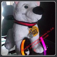 Illuminated Dog Collars Nylon LED Dog Collar For Night Walking