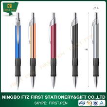 Dotted Soft Rubber Grip Retractable aluminium ball pen