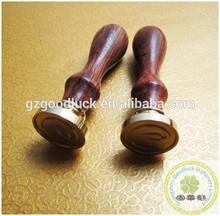 Custom monogram initials letters wooden wax seal