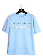 Fashion knitted garment summer half sleeve girl blouse T-shirt