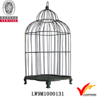 vintage wrought iron bird cages for garden