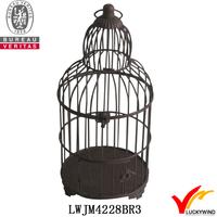 decorative Brown round antique hanging bird cages