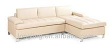 LK-09 luxury l shape living room leather sofa