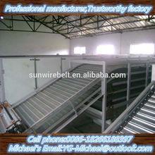 belt conveyor stainless mesh food conveyor belting raw materials in making noodles
