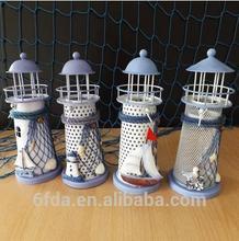 Graduated from the Mediterranean Sea beacon, wrought iron candlestick creative wedding souvenirs