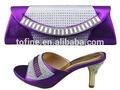 Chegada nova bonito nu meninas mulheres imagem sapatos italianos/italiano sapatos combinando e sacos