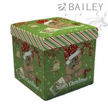 green Christmas bear ottoman