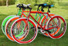 2014 Chinese colorful 700c fixed gear bicycle aliuminium alloy road bike