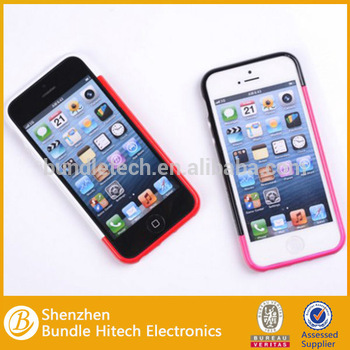 new design mix color clear TPU Silicone Bumper Case for iPhone 5 5s,mobile phone accessory