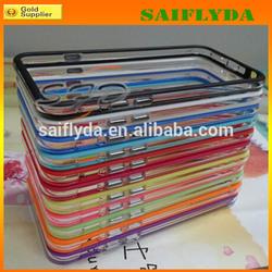 top quality colorful silicone bumper case for iPhone 6 tpu bumper phone case