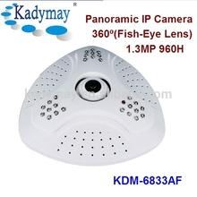 IP Network 1.3MP 960P Fisheye Lens 360 Degree Security Camera