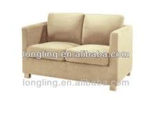 LK-806 modern very cheap short double seat fabric sofa