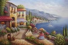 Original Design classical Buildings and Seascape painting