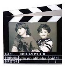acrylic director clap board photo frame