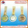 Gold silver bronze custom metal prize cast medal