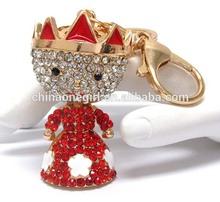 Crystal and epoxy deco princess key chain