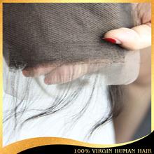 5a mongolian virgin human hair 4*4 hair lace closure 16inch