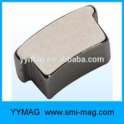 Arc neodymium rotor permanent magnet