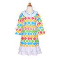 Nouvelle arrivée casual gros moyen manches été volants colorés enfants fantaisie coton robe plissée