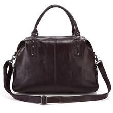 new big head layer cowhide travel bag big handbag for men or women