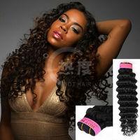 alibaba express Fashionable Design top grade natural color Virgin brazilian deep wave hair natural brazilian human hair