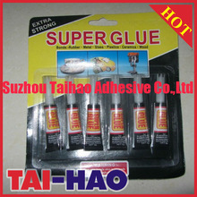 super glue extra strong 6pcs packed in blister with low price china supplier