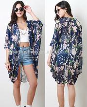 Bohemia Women Kimono Top Blouse long chiffon cardigan
