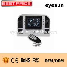 motion sensor hidden clock camera,night vision desk clock camera,remote control hidden camera family use