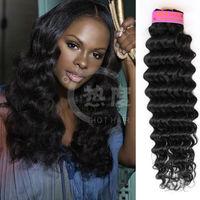 2014 alibaba express new malaysian deep wave hair top quality 100% virgin human hair extension