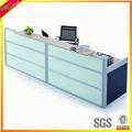 Kd mesa de recepção com tampo de vidro contador check-out counter