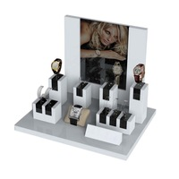 fashionable wood watch display counter stands