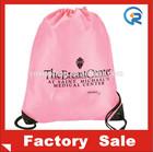 OEM wholesale promotion polyester drawstring bag for shopping