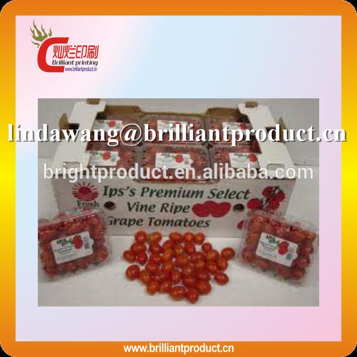 высокое качество 3 слой флейта помидоры черри коробки/фрукты коробки