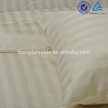 High quality cheap price sateen 1CM stripe fabric hotel bedding set